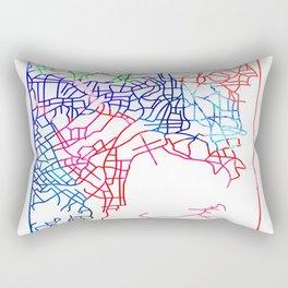 Sydney Watercolor Street Map Rectangular Pillow