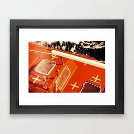 Cross Sea Framed Art Print