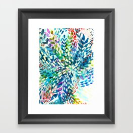 Color Explosion Watercolor Blue Framed Art Print