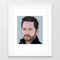 roosterteeth Framed Art Prints featuring Burnie Burns- Lazer Team  by CharlotteJR