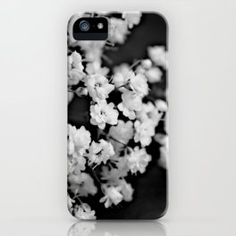 Baby's-breath black and white iPhone Case