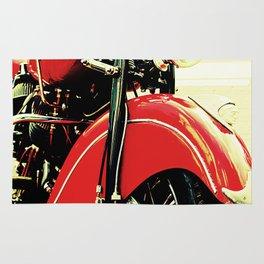 Motorcycle-Red Rug