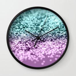 Mermaid Girls Glitter #3 #shiny #decor #art #society6 Wall Clock