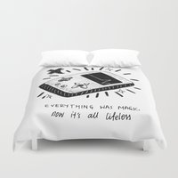 technology Duvet Covers featuring Technology Was Magic by Chynna Ang