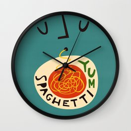 Yum Spaghetti Wall Clock