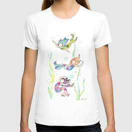 Watercolor Mermaids T-shirt