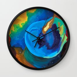 The Bubble Nebula Wall Clock