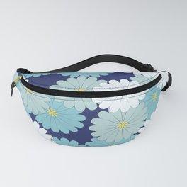 Blue oriental flowers Fanny Pack