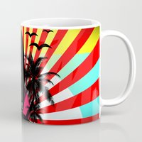 surf Mugs featuring Surf by mark ashkenazi