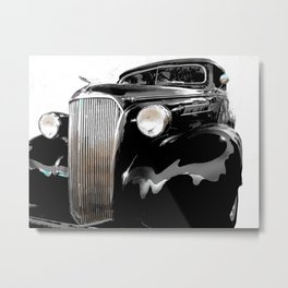 shiny black fenders Metal Print