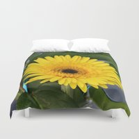 you are my sunshine Duvet Covers featuring Sunshine  by IowaShots