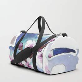 Cherry blossom bird Duffle Bag