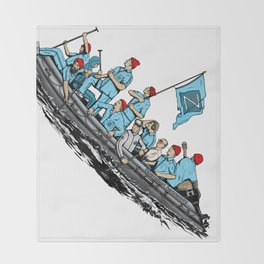 Team Zissou Crossing the Delaware Throw Blanket