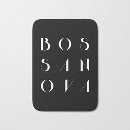 Bossa Nova 2 Black Bath Mat