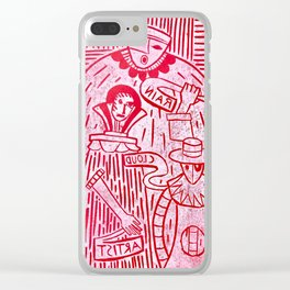 The Sign Holders - Red and White Clear iPhone Case