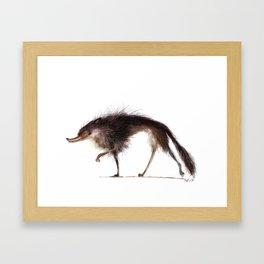 grinning wolf Framed Art Print