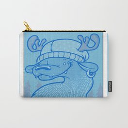 Blue Hairpin Carry-All Pouch