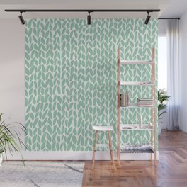 Hand Knit Zoom Mint Wall Mural