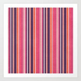 Happy Vertical LInes Pink Version Art Print