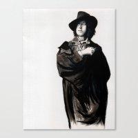 oscar wilde Canvas Prints featuring Oscar Wilde by Zombie Rust