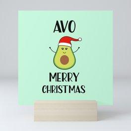 Avo Merry Christmas, Funny, Quote Mini Art Print