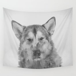 Old Timer (Black and White) Wall Tapestry