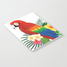 Tropical Macaw Floral Watercolor Notebook