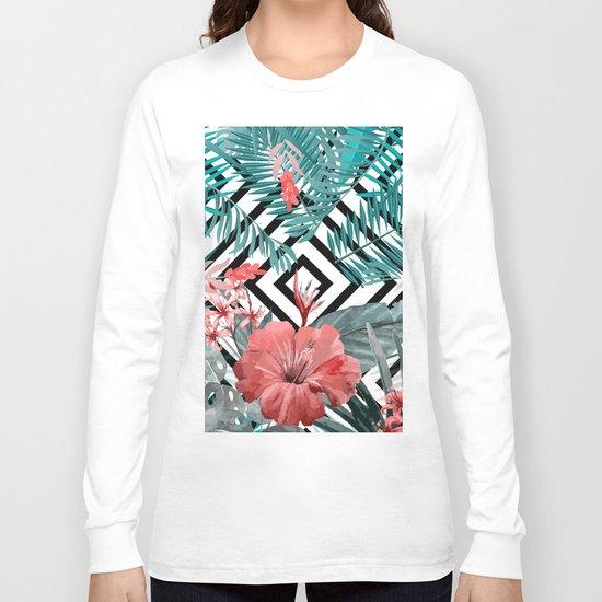 TROPICAL PATTERN Long Sleeve T-shirt