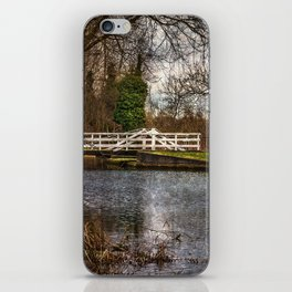 Sulhamstead Swing Bridge On The Kennet and Avon iPhone Skin
