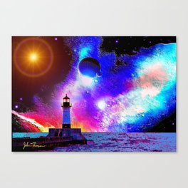 Lighthouse to the stars Canvas Print