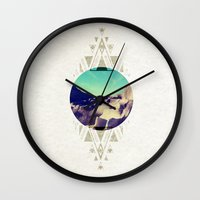stone Wall Clocks featuring stone by Manoou