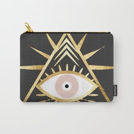 gold foil triangle evil eye Carry-All Pouch