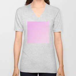 Pink Magenta and Light Pale Pink Gradient Unisex V-Neck