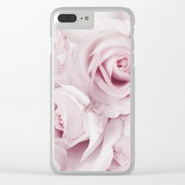 Flowers, Roses, Plant, Pink, Fashion, Scandinavian, Minimal, Wall art Clear iPhone Case