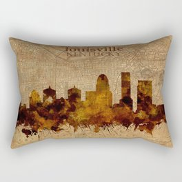 louisville skyline vintage 4 Rectangular Pillow