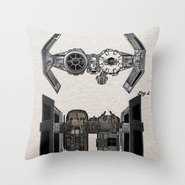 Tie Bomber color Patent Throw Pillow