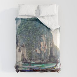 Boat in the sea Comforters
