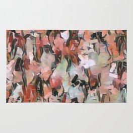 Abstract Confetti Landscape Peach Rug