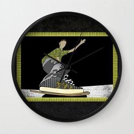 Skateboard 14 Wall Clock