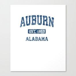 Auburn Alabama AL Vintage Athletic Sports Design Pullover Hoodie Canvas Print