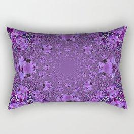 Encrusted Amethyst Purple Gems February Birthstones art Rectangular Pillow