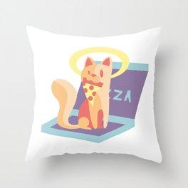 Pawsome Pizza Throw Pillow
