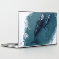 whales Laptop & iPad Skins featuring whales by Daniela Di Gennaro