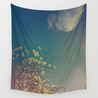 woodstock Wall Tapestries featuring Head in the Clouds by Olivia Joy StClaire