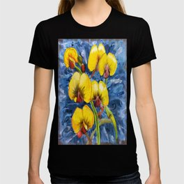 Bacon & Eggs Abstract Flower Painting T-shirt