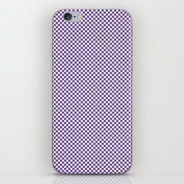 Deep Ultra Violet and White Mini Check 2018 Color Trends iPhone Skin