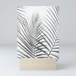 Black and White Tropical Palms Mini Art Print