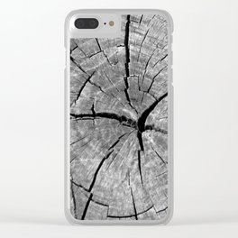 Weathered Old Wood Texture Clear iPhone Case