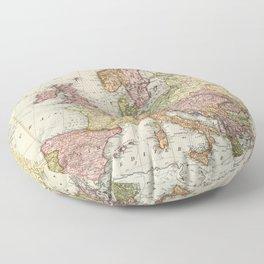 Atlas Map of Europe (1912) Floor Pillow