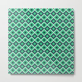 Checkered pattern design art Metal Print